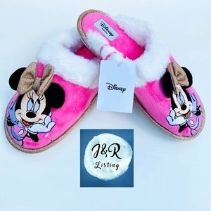 Disney Minnie Mouse women's Slippers Pink/White